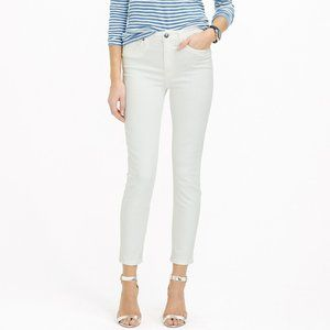 NWT J.Crew White Lookout High Rise Crop Jeans 28